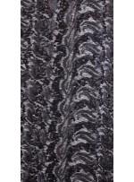 Dalga Desenli 3 mm ve 5 mm Mat Siyah c1 Payetli Kumaş - K9008