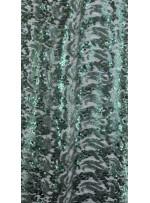 Dalga Desenli 3 mm ve 5 mm Mat Yeşil c12 Payetli Kumaş - K9008