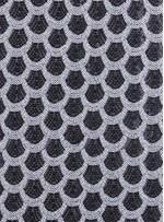Dilim Desenli Siyah Beyaz Payetli Kumaş - K9025