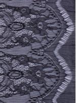 Beren Saat Giydiği Siyah İnce Fransız Danteli - K9032