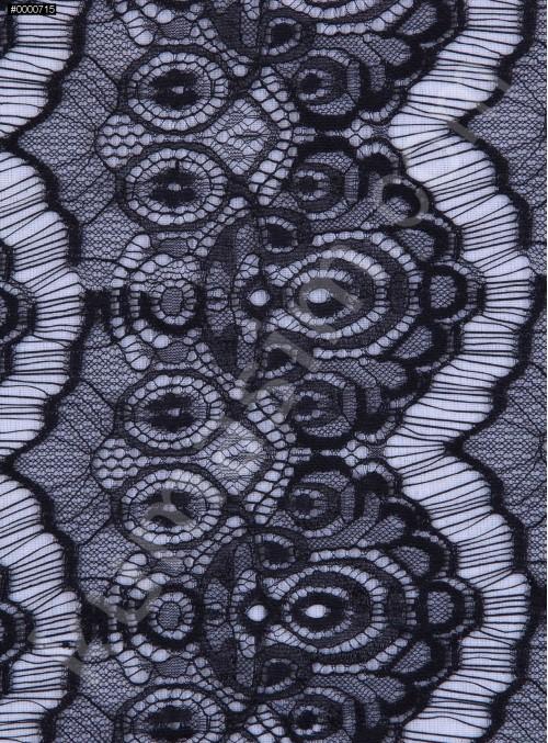 İnce Fransız Danteli - Siyah - K9033