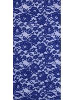 Çiçek Desenli Kordoneli Pamuk Dantel - Sax - K9036
