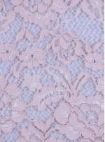 Çiçek Desenli Kordoneli Pamuk Dantel - Somon - K9036