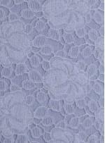 Çiçek Desenli Dantel Kumaş - Kemik - K9040