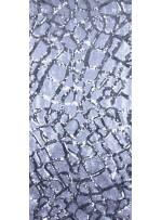Jarse Üzeri Damar Desenli Payet Kumaş - Gümüş - 9049