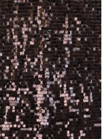 7 MM Büyük Payetli Siyah Payetli Kumaş - K9061