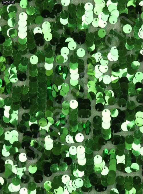 7 MM Büyük Payetli Yeşil Payetli Kumaş - K9061