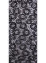 Payetli ve Yuvarlak Kordoneli Siyah Abiyelik Kumaş - K9078