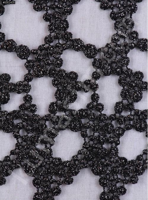 Zırh Desenli Gümüş Güpür Kumaş - K9101