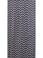 Dalga Desen Kordone Simli Siyah ve Gümüş Güpür Kumaş - K9102