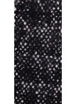 Çiçek Desenli Lazer Kesim 3 Boyutlu Siyah Lase Kumaş - K9124
