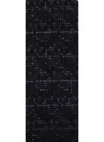 Gül Desenli Lase Kumaş - Siyah - K9132