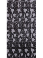 Karışık Desenli Gotik Renkli Gümüş Payetli Kumaş - K9134