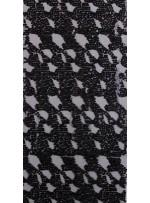 Karışık Desenli Gotik Renkli Siyah Payetli Kumaş - K9134