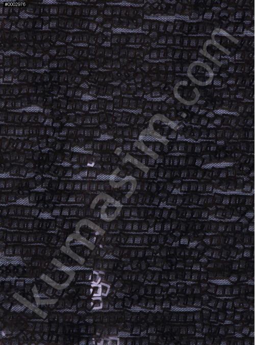 Kare Halka Payetli Siyah Abiyelik Kumaş - K9144