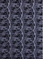 İnce Fransız Danteli - Siyah - K9150