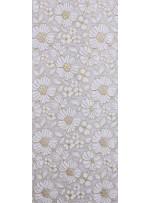 Çiçek Desenli Çift Renkli Abiyelik Dantel Kumaş - K9168