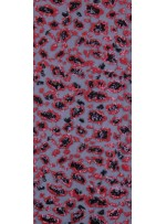 Leopar Desenli Kırmızı Payetli Abiyelik Kumaş - K9170