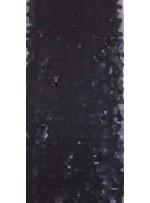 18 MM Büyük Payetli Mat Siyah Payetli Kumaş - K9179