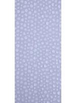 Yuvarlak Lazer Kesimli ve Beyaz Şeffaf c1 Payetli Kumaş - K9184