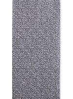 Siyah - Beyaz Leopar Desenli Digital Baskılı C3 Payetli Kumaş - K9196