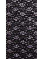 Çiçek Desenli ve Siyah Payetli Kordoneli Dantel Kumaş - K9201