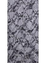 Karışık Desenli Baskılı Siyah ve Beyaz Dantel Kumaş - K9214