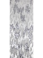 Tül Üzeri Payet Kumaş - Gümüş - 1.70 Parça - K9216