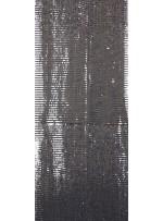 Tül Üzeri Açık Gold 5 MM Sıralı Payetli Kumaş - K9237