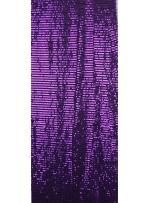 Tül Üzeri Açık Mor 5 MM Sıralı Payetli Kumaş - K9237
