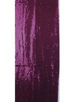 Tül Üzeri Fuşya 5 MM Sıralı Payetli Kumaş - K9237