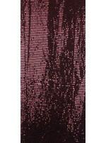 Tül Üzeri Kahverengi 5 MM Sıralı Payetli Kumaş - K9237