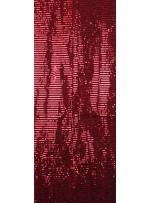 Tül Üzeri Kırmızı 5 MM Sıralı Payetli Kumaş - K9237