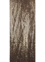 Tül Üzeri Koyu Gold 5 MM Sıralı Payetli Kumaş - K9237