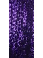 Tül Üzeri Mor 5 MM Sıralı Payetli Kumaş - K9237