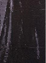 Tül Üzeri Siyah 5 MM Sıralı Payetli Kumaş - K9237