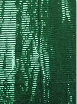 Tül Üzeri Yeşil 5 MM Sıralı Payetli Kumaş - K9237