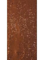 Halka Payetli Kahverengi Abiyelik Kumaş - K9239
