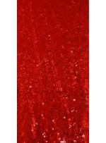 Halka Payetli Kırmızı Abiyelik Kumaş - K9239