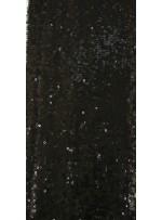 Halka Payetli Siyah Abiyelik Kumaş - K9239