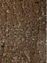Halka Payetli Siyah - Gold Abiyelik Kumaş - K9239