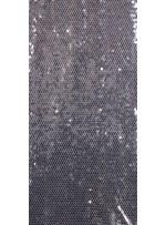 Tül Üzeri Sıvama Payetli Gümüş Kumaş - K9251