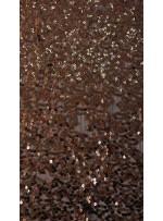 5 mm Yoğun Payetli Açık Kahverengi Payetli Kumaş - K9252