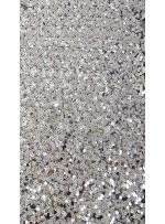 5 mm Yoğun Payetli Gümüş Payetli Kumaş - K9252
