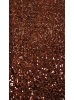 5 mm Yoğun Payetli Koyu Kahverengi Payetli Kumaş - K9252