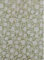Halka Desenli Açık Yeşil Payetli Kumaş - K9260