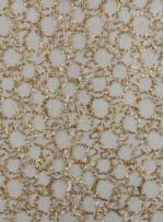 Halka Desenli Gold Payetli Kumaş - K9260