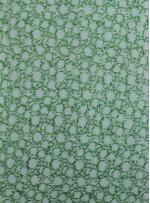 Halka Desenli Koyu Yeşil Payetli Kumaş - K9260