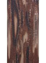 Kare Payetli Bej ve Kahverengi Baskılı Abiyelik Kumaş - K9289