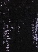 Balık Sırtı Yoğun Siyah Payetli Abiyelik Kumaş - K9292